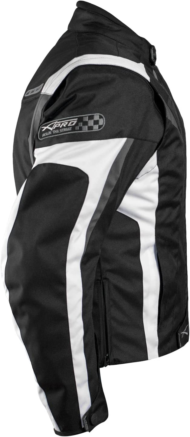 A-pro Motorcycle Jacket CE Protectors Sport Textile Motorcycle Thermal Lining Black S