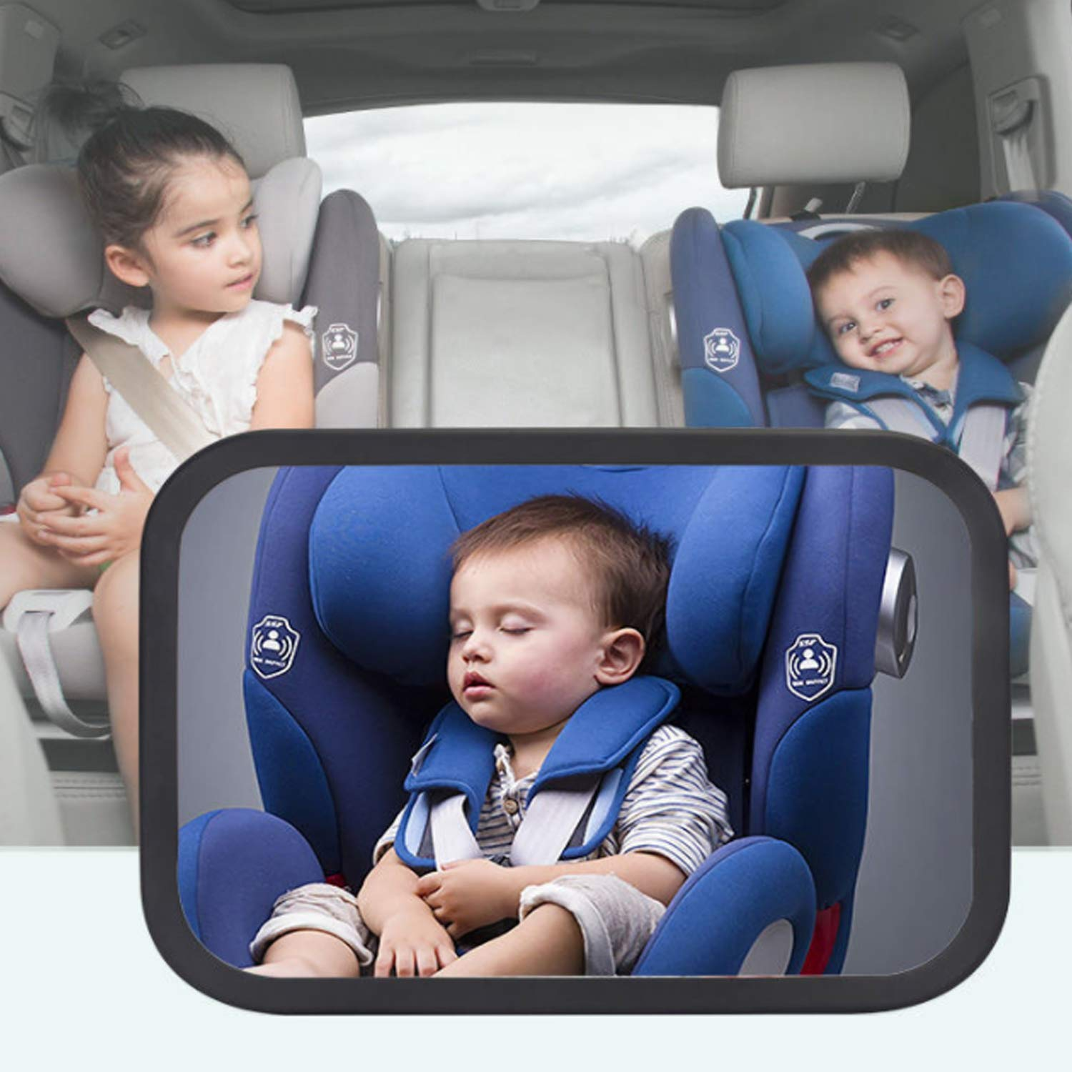 1xBaby Mirror Back Car Seat Cover for Infant Child Toddler Rear Ward Safety View