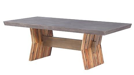 TOV Furniture TOV D7063 Astoria Concrete Table