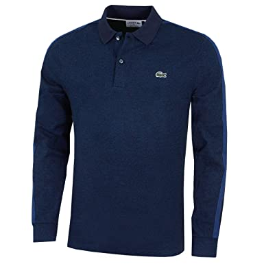 8ba084d857 Image Unavailable. Image not available for. Color: Lacoste Mens Long Sleeve  Polo ...
