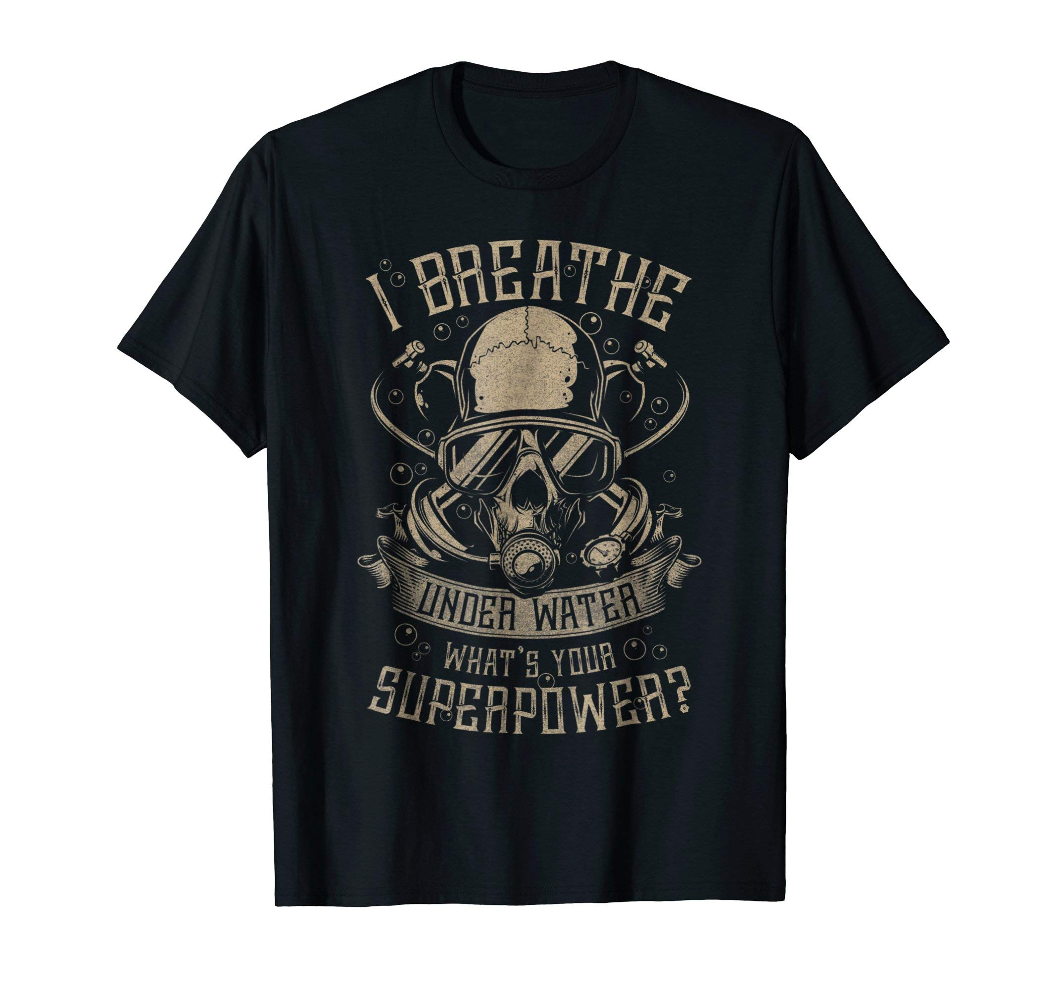 Scuba Diving - I breathe under water T-shirt by Scuba T-Shirts