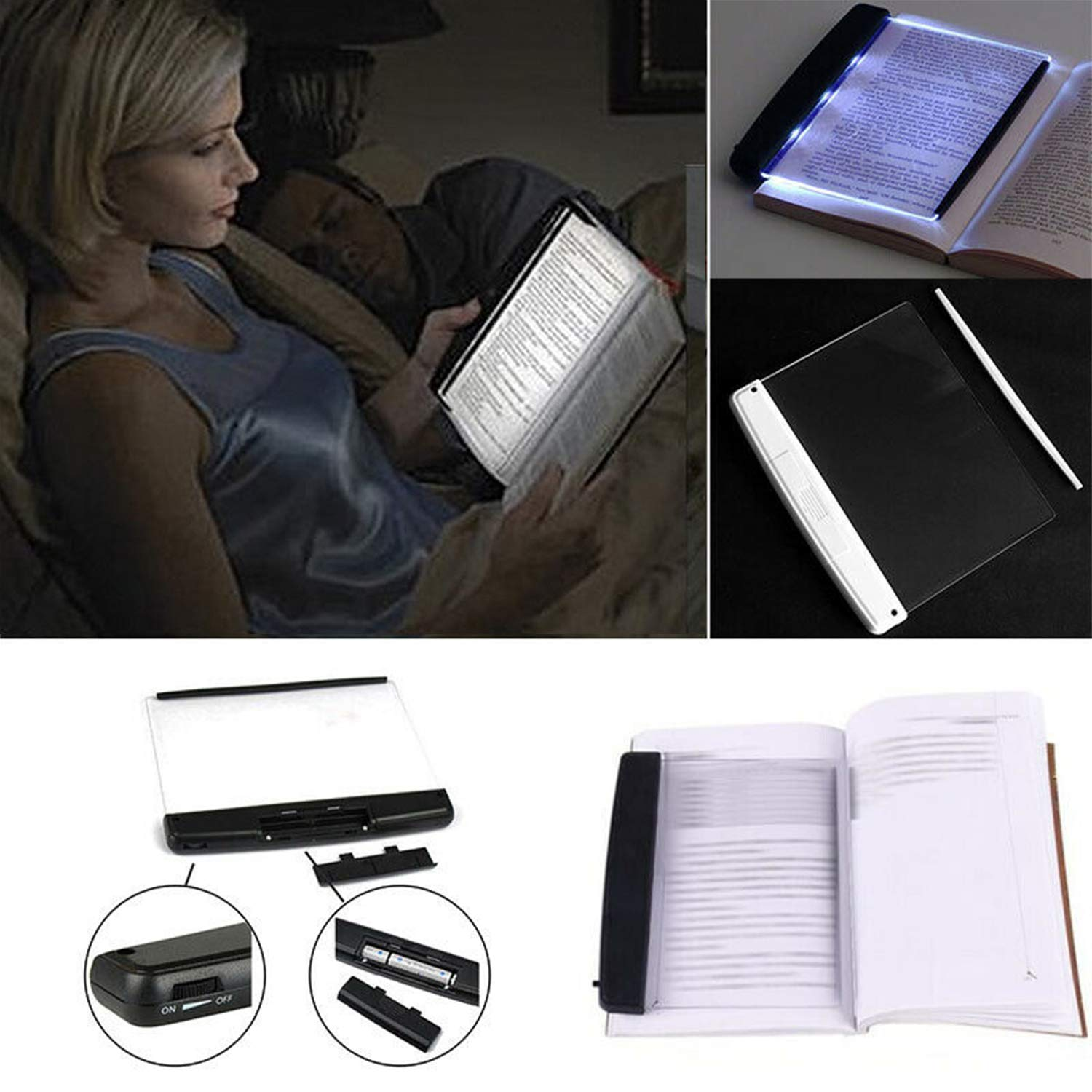 Ventens 2019 Portable LED Read Panel Light Book Reading Lamp Night Vision