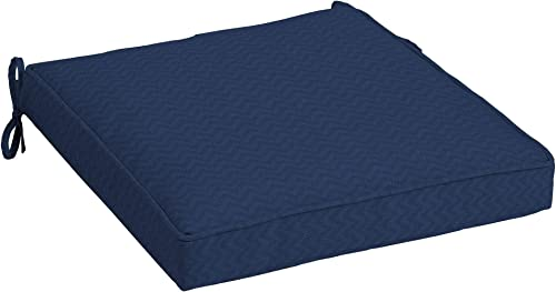 Arden Companies Arden Selections DriWeave Sapphire Leala Outdoor Seat Cushion – 21 in L x 21 in W x 5 in H