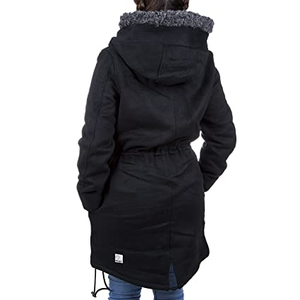 31f7c54de09d Khujo Ramya 1170CO163 Damen Wollmantel Mantel Wintermantel Jacke, B01 black  melange, XXL  Amazon.de  Bekleidung