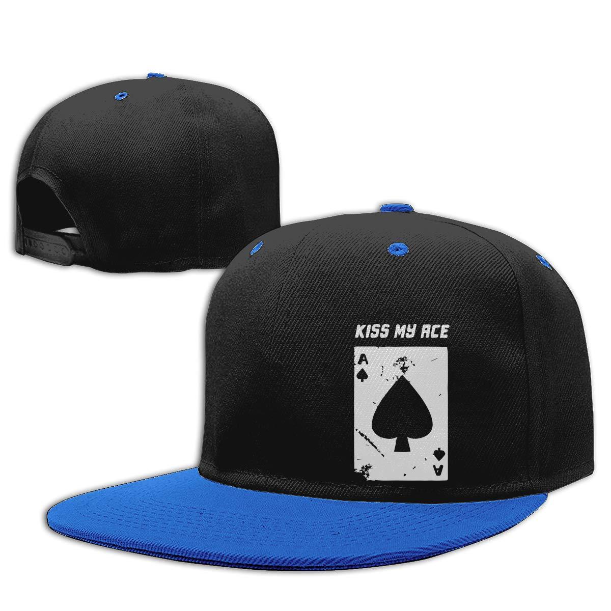 Ace Poker Cards Unisex Flat Bill Baseball Caps Women Men Hiphop Cap
