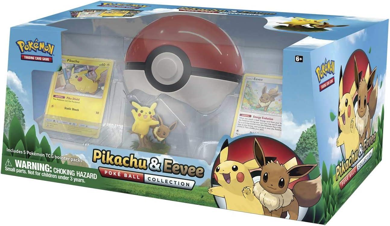 Pokémon POK80407 TCG: Pikachu & Eevee Poké Ball Collection: Amazon.es: Juguetes y juegos