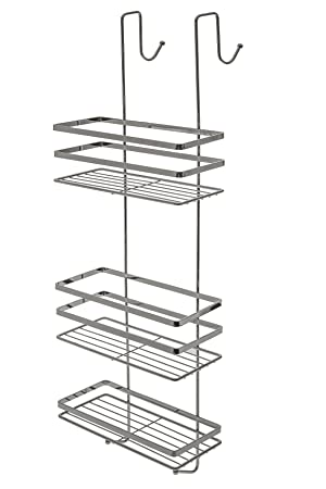 3 Tier Chrome Over Door Hanging Door Shower Caddy Storage Rack Tidy  Organiser