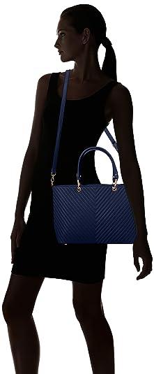 Damen Ella V Stripe Tote Bag, Schwarz (Black), 15x33x42 cm Swankyswans