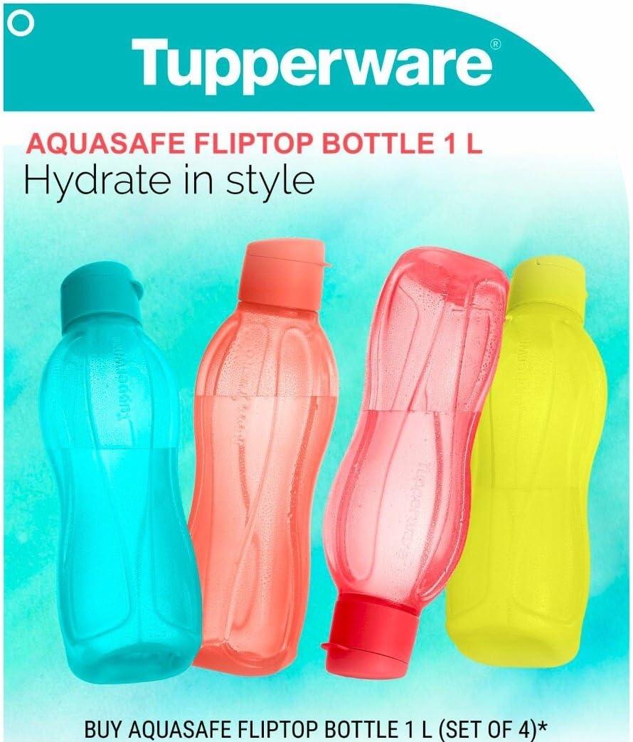Free Shipping Tupperware Eco Sport Water Drink Bottle Tumbler Blue Brush
