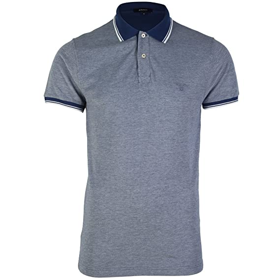 f7f6e6a2 GANT MENS BLUE POLO SHIRT M: Amazon.co.uk: Clothing