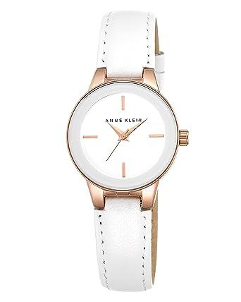 Anne Klein Women's Opaline Quartz Watch with White Dial Analogue