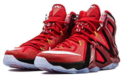 e64dc7f314a59 Image Unavailable. Image not available for. Color  Nike Lebron XII 12 Elite  Men Basketball Shoes University Red 7.5