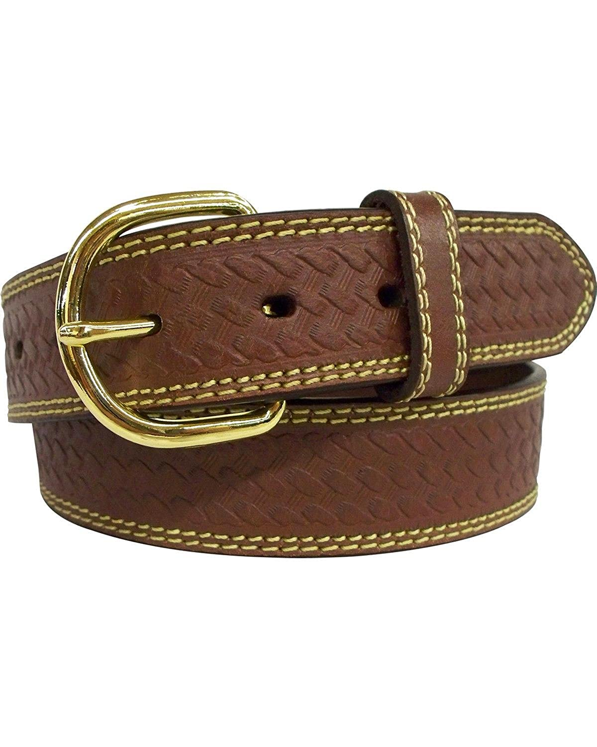 G-Bar-D Mens G-D Top Grain Leather Belt With Embossed Weave Design 5221500-200