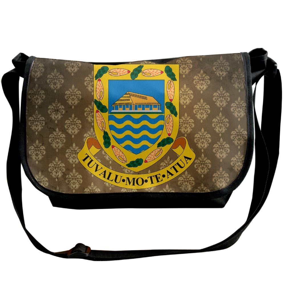 Lov6eoorheeb Unisex Coat Of Arms Of Tuvalu Wide Diagonal Shoulder Bag Adjustable Shoulder Tote Bag Single Shoulder Backpack For Work,School,Daily