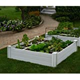 Nuvue Products Raised 48 By 48 By 15 Inch Garden Box Kit Extra Tall White Metal