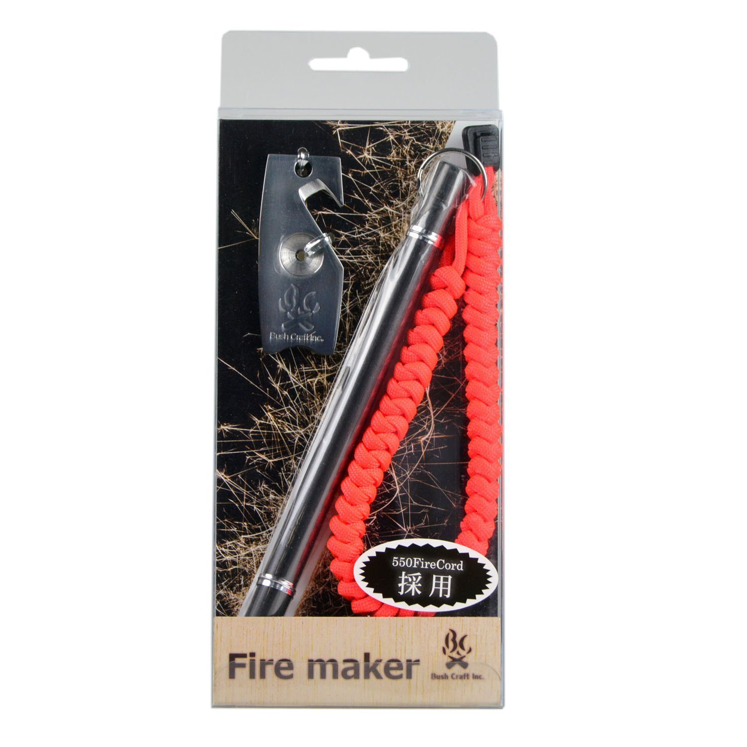 Bushcraft Metal Match: Fire Maker with Striker