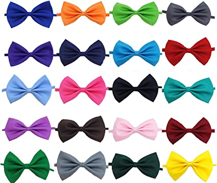 Polyester Boys Girls Kids Children Bow Ties Necktie Tuxedo Suit Bowties 20 Color