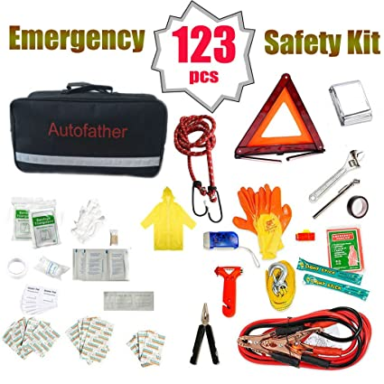Amazon Com Auto Emergency Safety Kit 123 Pieces All In One Repair