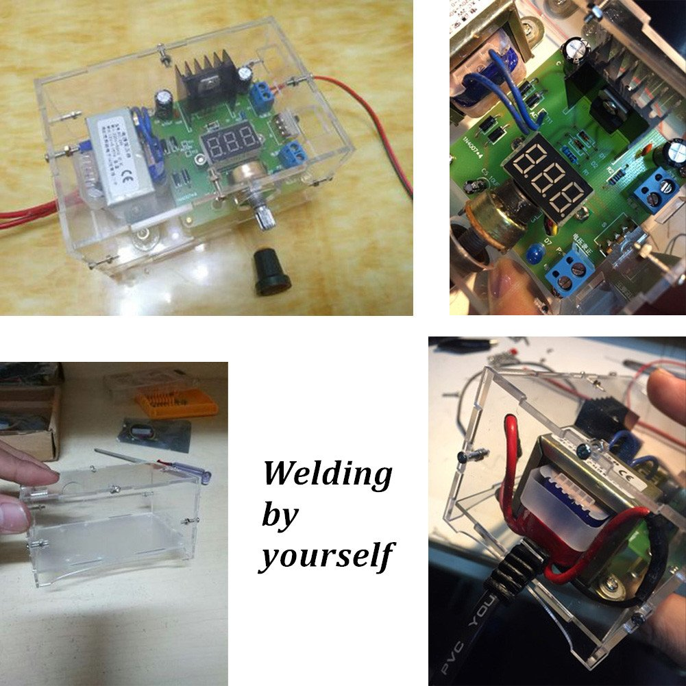 Voltage Adjustable Regulator Module Electronic Diy Kits Circuit Production Project Suite Board Lm317 125v 12v Dc 220v Power Supply For Practice Teaching Dingdong