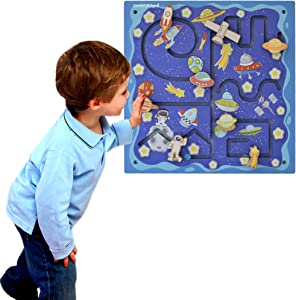 Space Travel Activity Wall for Toddlers – Sensory Wall Panel - Mounted Kids Activity Center - Wall Activities for Kids Rooms Decor, Playrooms, Doctor's Offices and Play Area - Child Gift Age 1 2 3 4