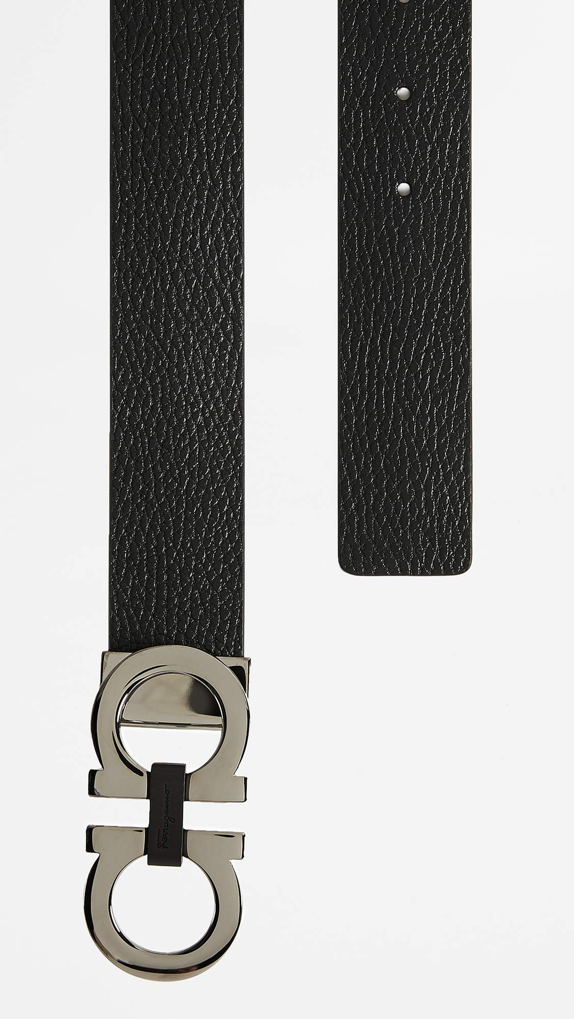 Salvatore Ferragamo Men's Reversible/Adjustable Belt-678783, Nero/Hickory 36 by Salvatore Ferragamo (Image #3)