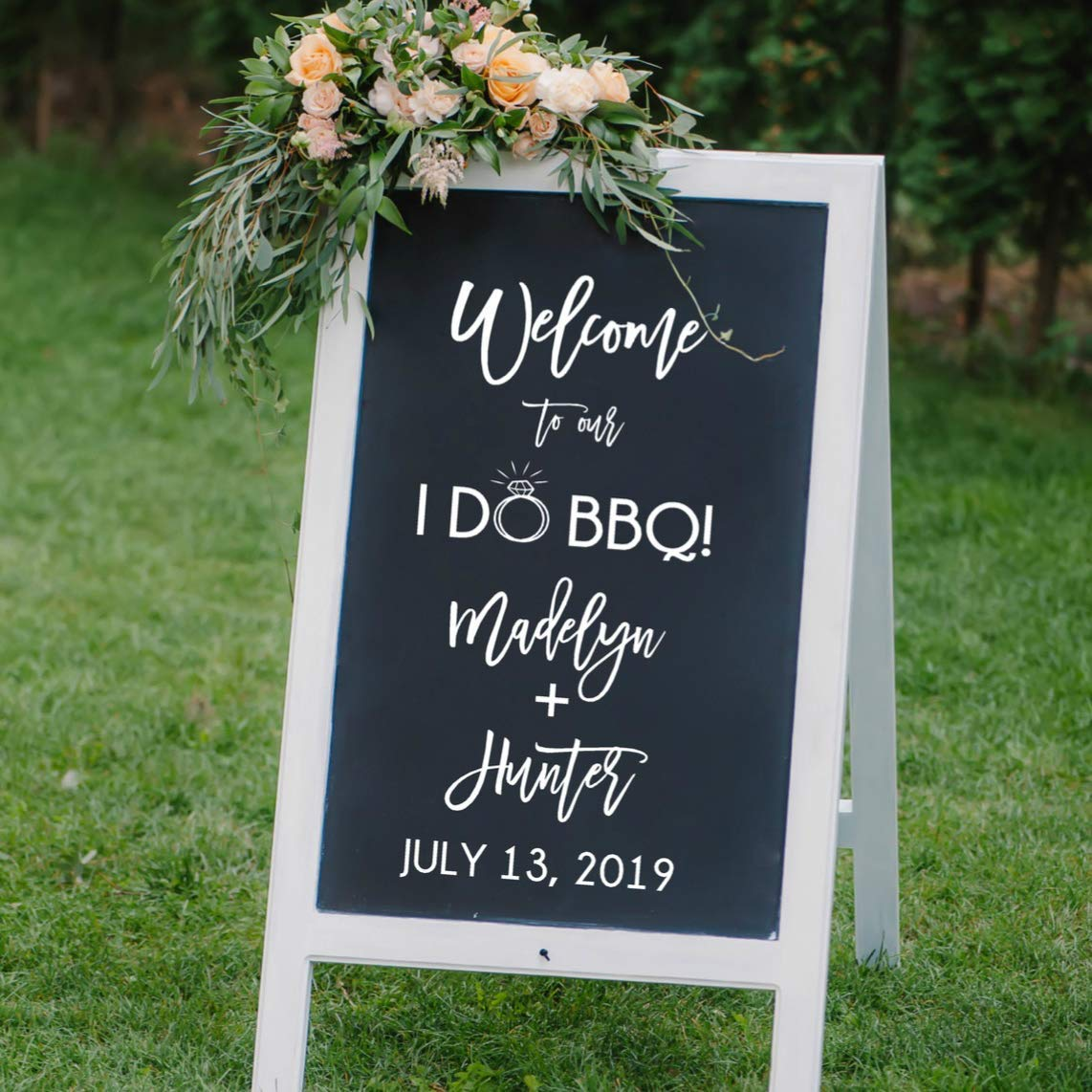I Do Bbq Reception Welcome Decal Bbq Wedding Decorations Backyard Wedding Decor Several Sizes Colors