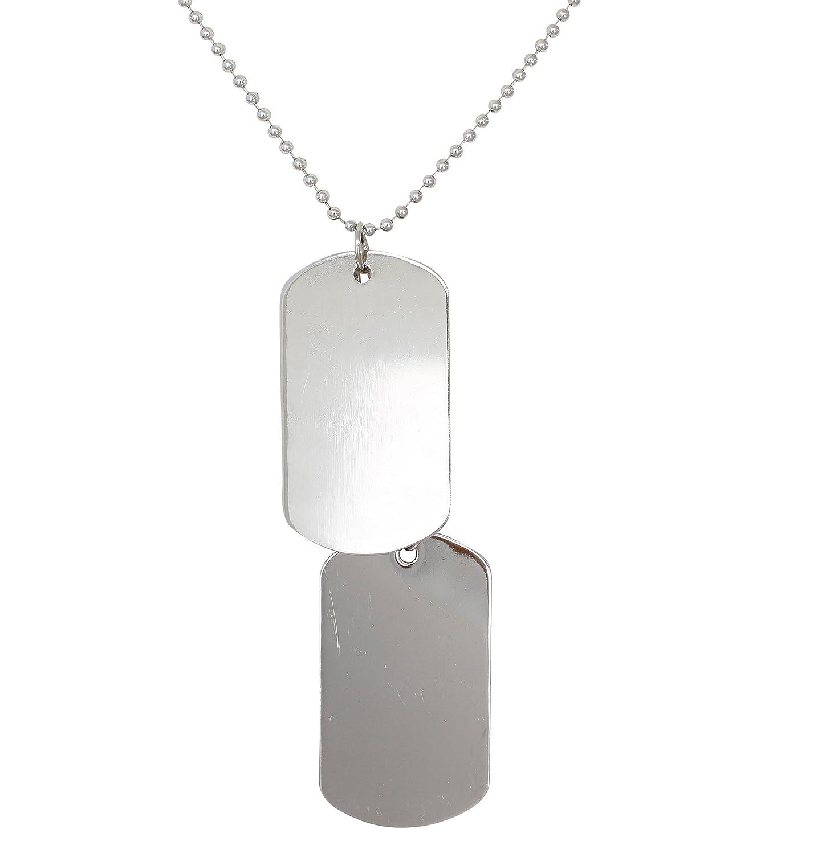 Amazon.com: Collar con Colgante de aleación de plata 2 Pcs ...