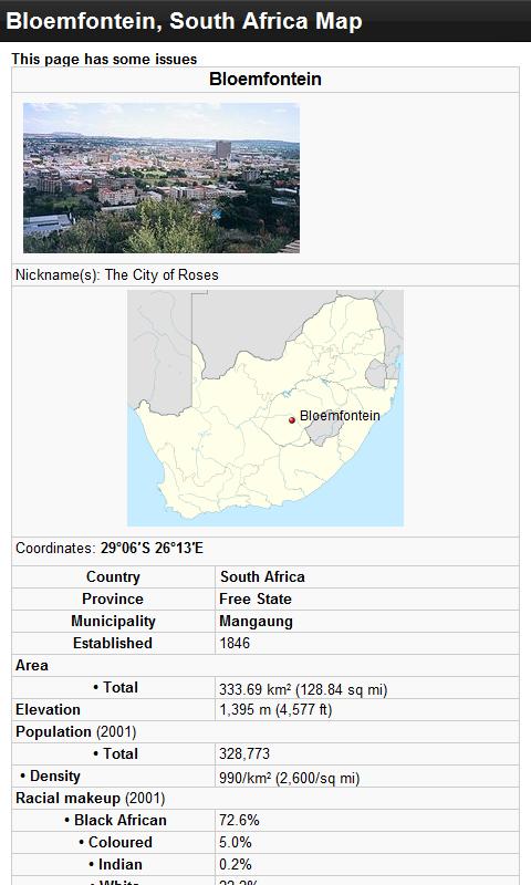 Bloemfontein South Africa Map.Amazon Com Bloemfontein South Africa Offline Map Place