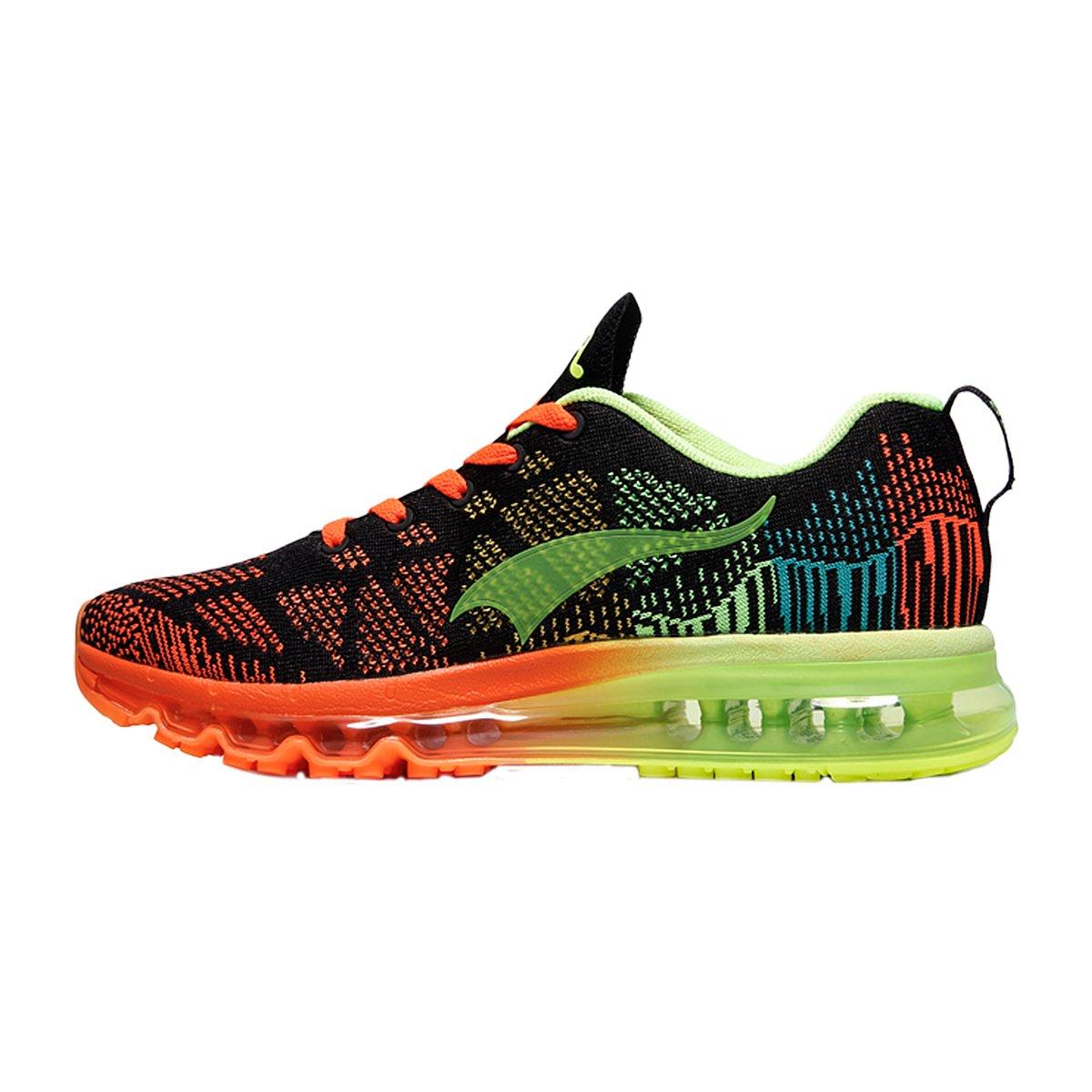 ONEMIX Women's Lightweight Air Cushion Outdoor Sport Running Shoes B07BQJWBS4 Women 7(M)US/Men 5.5(M)US 38EU|Blackgreen-1