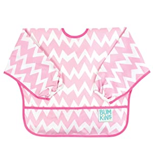 Hippychick Bumkins Sleeved Bib - Pink Chevron