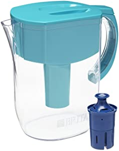 Brita Everyday Pitcher with 1 Longlast Filter, Large 10 Cup, Turquoise