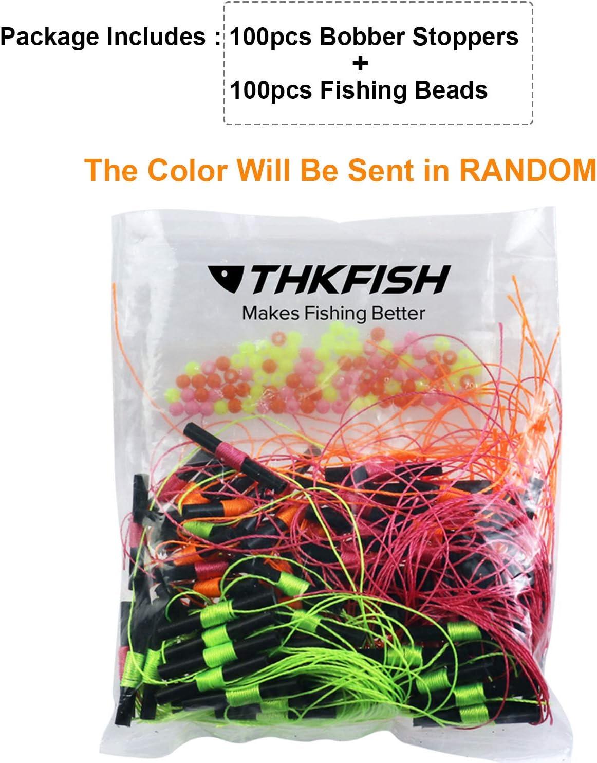 thkfish Bobber Stoppers Bobber Stops for Fishing Float Fishing Bobbers Stoppers for Fishing with Beads 100pcs