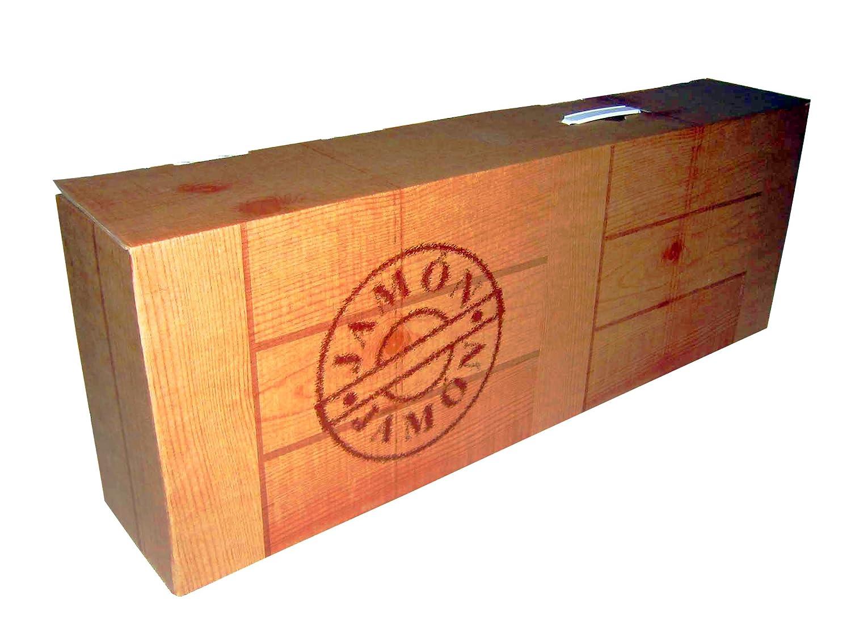 Lote 2 Cajas Jamonera Cartón 850x140x320 Imitación Madera: Amazon.es: Oficina y papelería