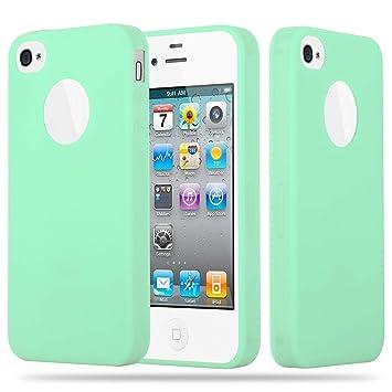 a24ec3df1d4 Cadorabo Funda para Apple iPhone 4 / iPhone 4S en Candy Verde Pastel:  Amazon.es: Electrónica