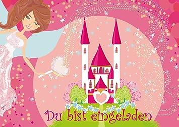 U0026quot;PRINZESSIN MIT TRAUMSCHLOSSu0026quot; 6 Prinzessinnen Party  Einladungskarten (10662) Zum