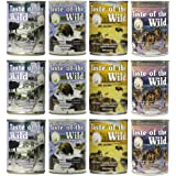 Taste of the Wild Grain-Free Canned Dog Food Variety Pack - Wetlands, Pacific Stream, High Prairie, and Sierra Mountain…