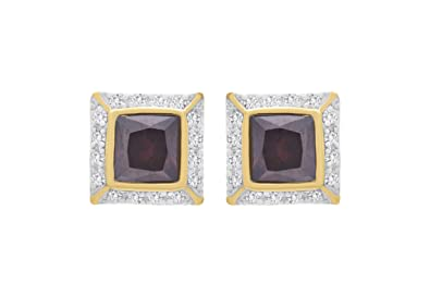 2dd899e55 Buy JFL - Fusion Traditional Ethnic One Gram Gold Plated Cz American Diamond  Purple Stone Diamond Designer Stud Earrings Women and Girls.