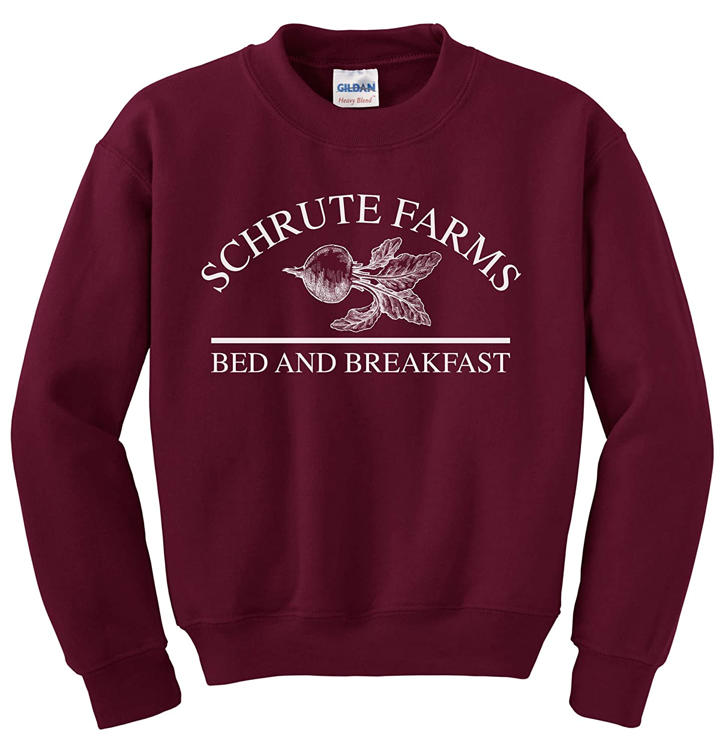 Asher's Apparel Schrute Farms Beets Bed and Breakfast Sweatshirt Sweater Pullover - Unisex