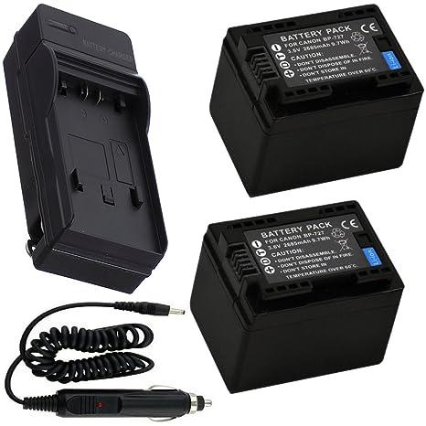 2 batería + cargador para Canon Legria HF R46, HF R47 y HF ...