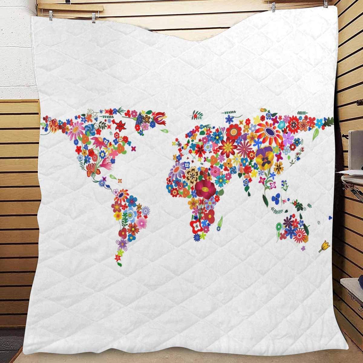 Amazon.com: InterestPrint World Map Made of Plenty Colorful ...