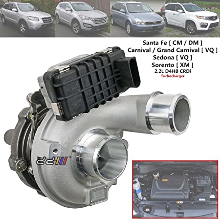 Amazon.com: Turbo Turbocharger For Hyundai Santa Fe Kia Sorento 2.2 CRDI GTB1752 28231-2F100: Automotive