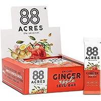 88 Acres Ginger Apple Seed Granola Bar, Gluten-free, Nut-free, Non-GMO, Vegan, School Safe (1.6 Oz, 12 pack)