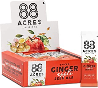 product image for 88 Acres Granola Bars | Ginger Apple | Gluten Free, Nut-Free Oat and Seed Snack Bar | Vegan & Non GMO | 12 Pack