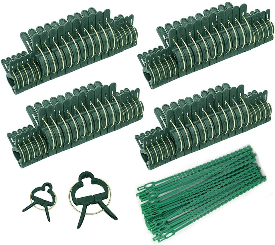 IPOUF 80 PCS Gentle Plant & Flower Clips for Supporting Stems,Plant Stalks, and Vines