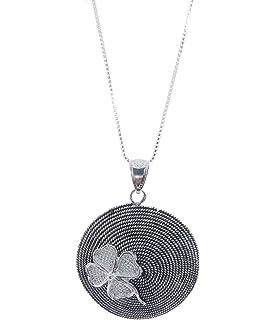 Sterling Silver Two-Tone Tao Corbula Necklace JH5hPoGi0C