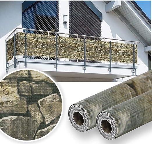 HG® PVC Valla Protectora de privacidad 65m | Estera Protectora de Intimidad Cañizo de PVC Doble Cara para Jardín Balcón: Amazon.es: Jardín