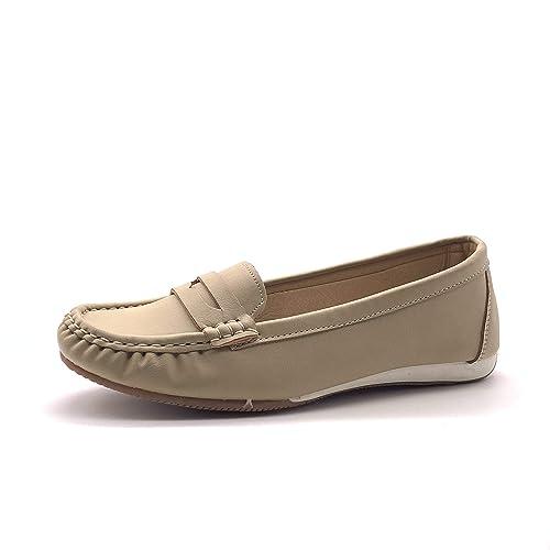 très loué chaussures décontractées meilleur prix Angkorly - Chaussure Mode Mocassin Casual Plate Tendance ...