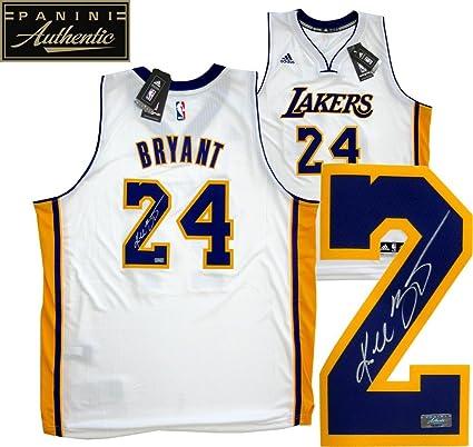 887e99b0c Kobe Bryant Autographed Signed Los Angeles Lakers White Adidas Swingman NBA  Jersey - Panini