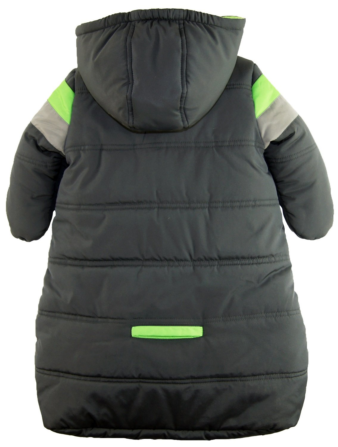 iXtreme Baby Boys Snowsuit Colorblock Stripes Puffer Carbag, Grey, 3-6 Months by iXtreme (Image #3)