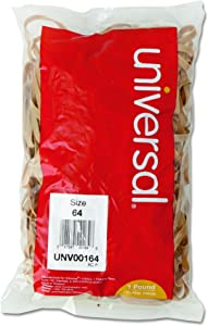 """Universal Rubber Bands, Size 64, 3-1.2"""" x 1/4, 320 Bands/1lb Pack (164)"""